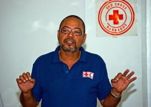 Red Cross Regional Food Security Expert John King as he addressed participants during a Food Safety Workshop hosted by the Barbados Red Cross Society.