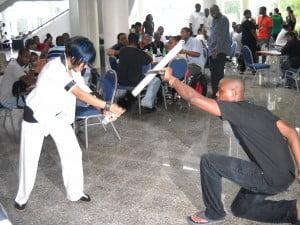 Manga Gal Vs. Wannabe Samurai - Enter The Arena: Anime Kon 2010, Two Mile Hill, St Michael, Barbados, WI