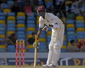 Brandon Bess takes guard on debut - Brooks La Touche Photography and DigicelCricket.com