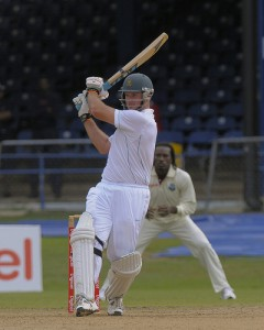 Graeme Smith pulls to the boundary - Brooks La Touche Photography and DigicelCricket.com