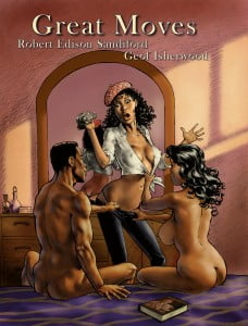 In bookstores and comic shops now.  Or visit www.amazon.com.   See previews of GREAT MOVES at www.nbmpublishing.com and more of Geof's work at www.geofisherwood.com