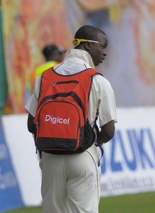 Injured pacer Kemar Roach was relegated to the sidelines - Brooks La Touche Photography and DigicelCricket.com