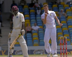Morne Morkel pumps his fist after dismissing Dale Richards - Brooks La Touche Photography and DigicelCricket.com