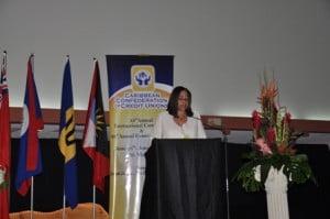President of the CCCU, Ms Yvonne Ridguard