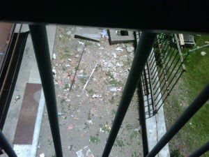 Back in 2007, the BFP spoke of filth on the grounds outside the stairwell - what exactly is different in 2010? CLICK ON IMAGE FOR LARGER PHOTO
