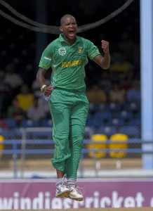 Tsotsobe celebrates Richards catch