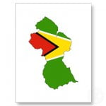 guyana_flag_map