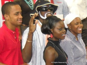 """Reddman with """"Wrinkles"""" {hatted}, Queen T, and Terencia Coward-Thompson - a.k.a - TC"""