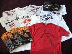 Stephen Moyer signed 20 items to give away including one of his own t-shirts.