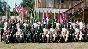 The graduating class of the CJCSC 2010 course. {All photos courtesy Captain Kayode Sutton}