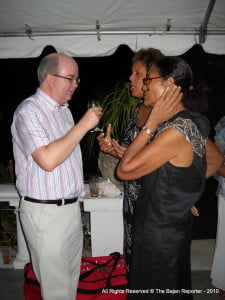 Paul Brummell, UK High Commissioner, chatting with guests