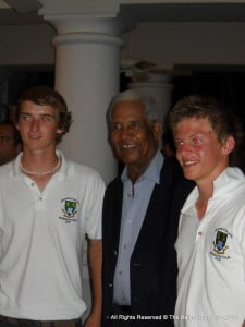 Sir Garry and some of the lads from Bradfield College, this school has never toured here before