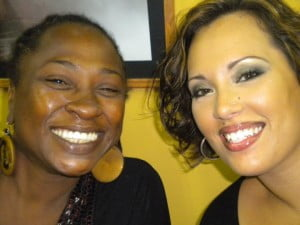 """Sonia Williams did """"Fatology"""" and here she is backstage with Mrs Alex Cummins, IMAGE COURTESY: Mandy Cummins"""