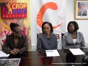 L to R: Dr Donna Hunte Cox - NCF's CEO; Elizabeth Morgan - CMMB's Country Manager (B'dos) & Sharon Small - Ms Morgan's Asst & Marketing Exec at CMMB