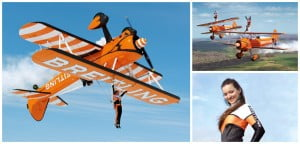 HEAD-SPINNING PERFORMANCES: An exceptional new team is flying under Breitling colors: the Breitling Wingwalkers, featuring acrobats dancing on aircraft wings in mid-sky. Definitely not for the faint-hearted!