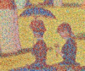 Segment of one of Georges Seurat's most famous pointillist canvasses.