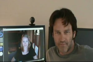 """Shadaliza, The Vault's Site Admin & Stephen """"Bill Compton"""" Moyer - together via Skype (NB - Picture courtesy AllStephenMoyer/The Vault, tks @ Shadaliza)"""