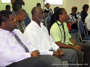NCF Cultural Officers in front row - Andre Hoyte closest to camera, Ashanti Trotman in middle while Aja in 'locks concludes the front row posse for the day's session