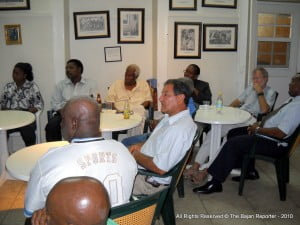 Guests included Hal Martin, Taan Abed and Bob Verdun in the packed cafeteria
