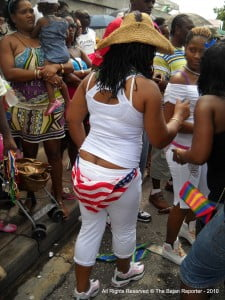 This is a cheeky look from The Bajan Reporter at Kadooment & Crop Over 2K10, who had nothing to do with this cheeky Bajan Yankee