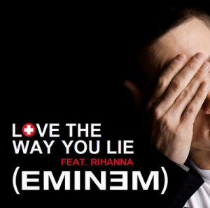 "Eminem and Rihanna's track ""Love the Way You Lie"" has topped the US charts for 3 weeks now"