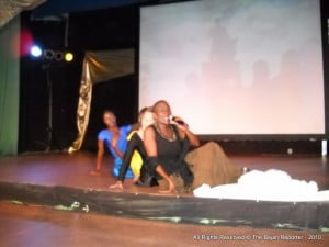 """Carole George and Dancers in the multi-media choreography """"Tribute 2 D"""""""
