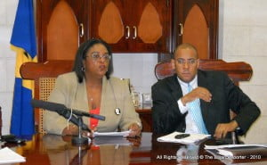 Barbados' Opposition Leader with Legal Counsel, Kerrie Symmonds