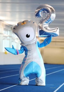 London 2012 Paralympic Games mascot Mandeville marks two years to go to the Paralympic Games at the University of Bath preparation camp for Paralympic hopefuls.