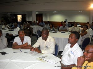 A portion of the audience attending the Sandiford Cultural Centre (ex-Sherbourne) that day