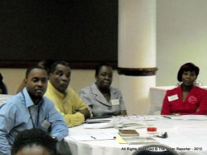 Participants at the Multi-Hazard seminar at the Sandiford Cultural Centre