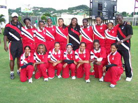 Trinidad and Tobago: champions of the WICB Women's League. (Picture by Julius Anthony)