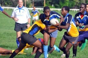 Barbados U19 Rugby squad hard at practice