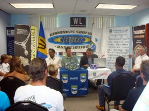 The Barbados Surfing Association appreciates the help from all their sponsors: - Ashford Dairies, Barrels and Bearings, BTA, Courtesy Garage, Diamonds International, Globe finance, Mix 96.6, Nomis Ltd., Sprite, TSL, Wavelengths