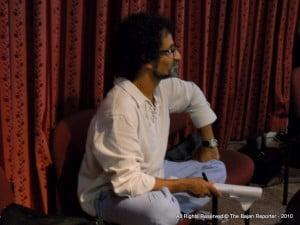 Set Designer Leandro Soto observing rehearsals