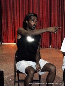 Nala establishing the cue where his role's dialogue begins