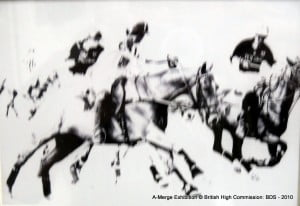 Ahmad took the most basic chiaroscuro elements of chukkas and brought it forth in minimalist lithograph worthy of a haiku