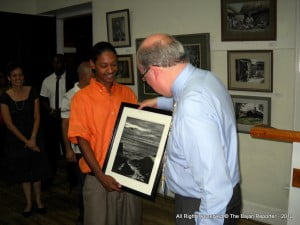 Ahmad's son also made a presentation to High Commissioner Brummell