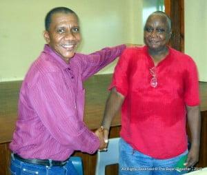 David Gill sharing his unopposed return with BLP stalwart, Emon Layne