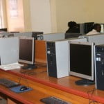 Some of the brand new 150 computer terminals already installed at the Charlestown Primary School's Computer Lab