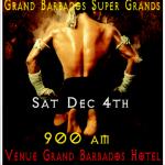 Grand Barbadoss Super Grand Martial Arts Event dec 4 2010 POSTER