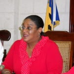 """Embattled St Michael North East MP, Mia Mottley; very likely her theme today is Aretha Franklin's """"R-E-S-P-E-C-T"""""""