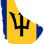Flag map of Barbados