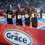 Munro college winner of Championship of america 4x400m relay sponsored by Grace Foods