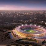 Olympic stadium by dusk