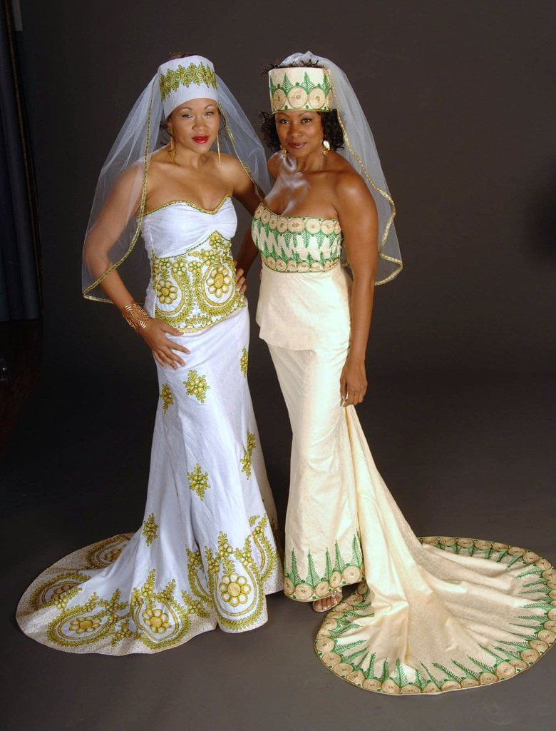 The bajan reporter afrocentric matrimonial garb from for Www african wedding dresses