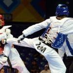 Erick Osornio durante el combate contra Johanny Jean.