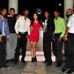 The members of Chutney Soca Crossover Band Karma