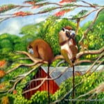 Somehow Debra Durant's painting made the most sense - Barbados Green Monkeys playing with a Compact Disk and not a clue what's in their hands... This is only meant in the sense where Technocrats are handling an Aesthetic matter with a broad-based reach for laws which should have been in place at least 10 years ago!