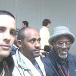 Damon with interpreter and 90 year old Gamo elder from Ethiopia