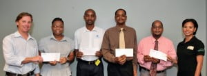 Praise being received by TeleBarbados from some of its customers, the latter of whom were the lucky winners of the company's December 2011 promotion